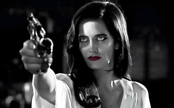 Sin City 2 Eva Green Gun