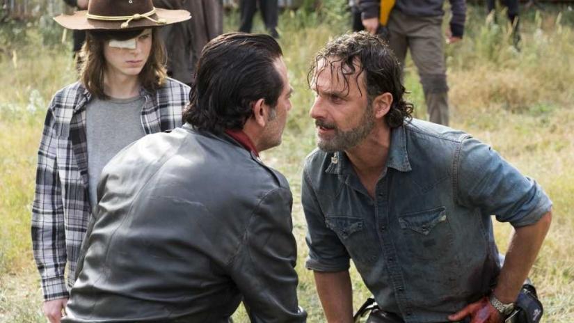 The Walking Dead Rick y Negan